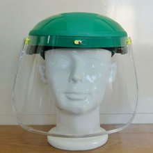 2016 best selling half safety helmet with face shield PC plastic half helmet face visor industrial safety helmets with visor