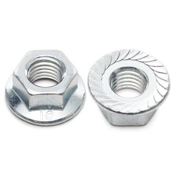 Right Hand Threads Stainless Steel Zinc Plated Self-Locking Serrated Flange Nut DIN6923