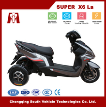 Super X6,2017 New electric motorcycle ,electric tricycle with active roll stabilisation and 2*1000W wheel Hub Motor
