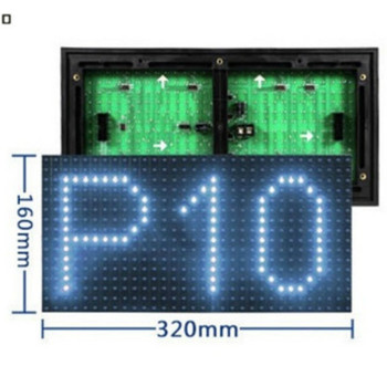 Outdoor led display modules 32x16 p10 p8 p6 red/white/green/yellow/rgb