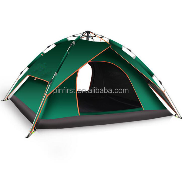 Outdoor Dual-Use Automatic 3-4 People Automatic Camping Tent