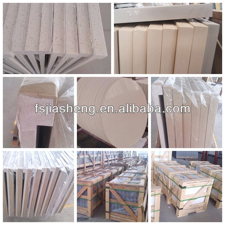 seashell artificial quartz stone slab countertop solid surfaces