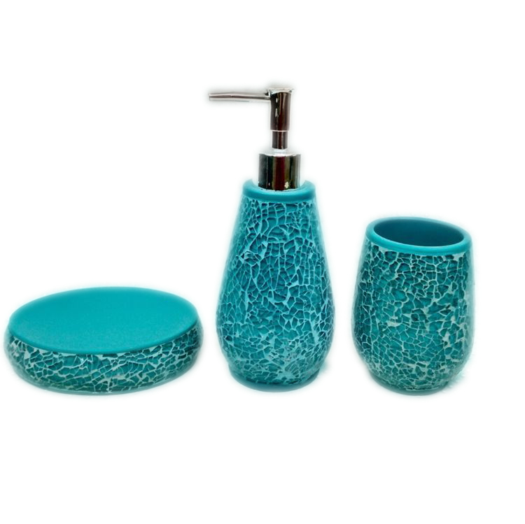 Wholesale Shinny Masic Style Bathroom Accessories Set 2016