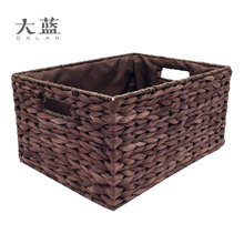 Natural Handmade Cornhusk Straw Storage Basket