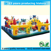 blue cat inflatable zoo animals