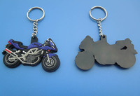 motorcycle shape rubber pvc key chain for promotion gifts