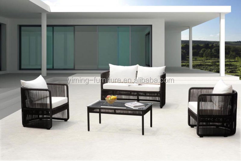 laura 2015 nachahmung outdoor wicker rattan polsterm bel. Black Bedroom Furniture Sets. Home Design Ideas
