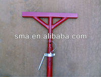 T-head steel scaffolding post shoring prop for beam support