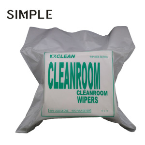 Good absorption cleanroom wipes biodegradable paper for industrial cleaning use