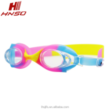 Cartoon racing swimming goggles silicone swim glasses anti-fog waterproof for kids