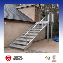 outdoor emergency steel staircase