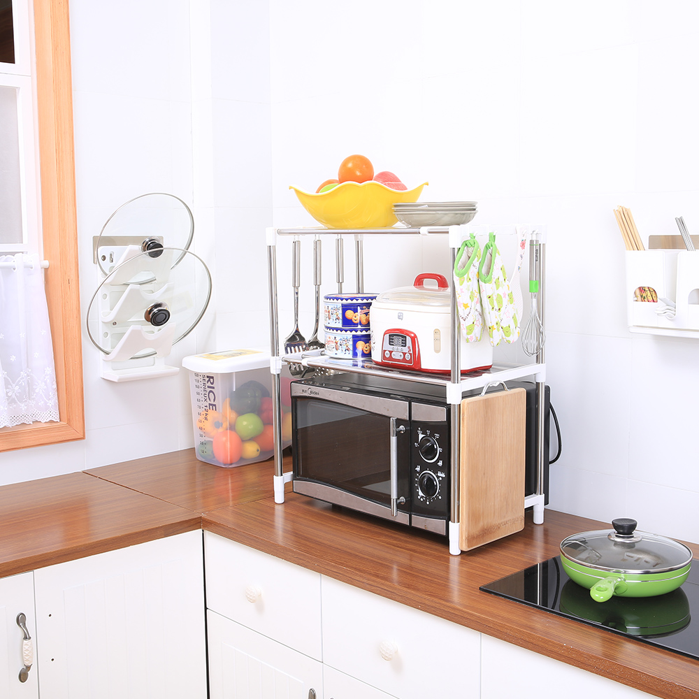 7009 Sq 2 Tier Microwave Oven Stand Adjustable Rack Shelf   Buy Adjustable  Rack Shelf,Microwave Oven Stand,2 Tier Shelf Product On Alibaba.com