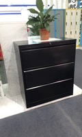 Pang Village Steel Office Furniture Filing Cabinet One Key Three Drawers