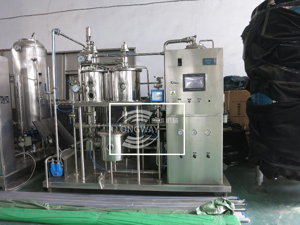 100% factory for sale high efficiency CO2 automatic carbonated drink mixer for aerated juice production line