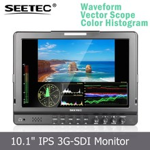 camera use 10.1'' 3G-SDI HDMI Ypbpr input multi-function high resolution 1280x800 video monitor with composite video input
