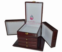 glossy antique jewelry chest in wood