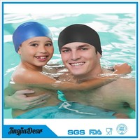 Colorful Silicone Swim Cap for Adults and Kids, Kids Swimming Caps, Long Hair And Short Hair Swim Cap