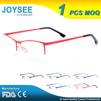 2016 Joysee Manufacturer Wholesale Company Designer Bright Color Metal Optical Eyewear Frames Made In China