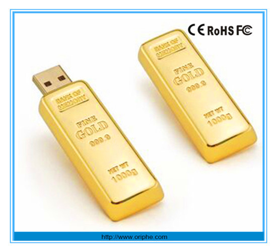 Promotion gift bulk lock usb memory gold