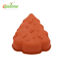 carved engraved Christmas tree silicone cake muffin soap pudding jelly mold mould mode
