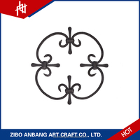 Wrought Iron Decoration Ornamental Iron Accessories Designs railings balustrade Panel for Sale