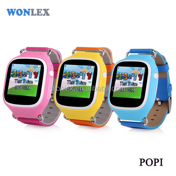 ellen 2017 newest coming Wonlex Brand Touch screen wtih GPS+WIFI +LBS POPI kids gps watch