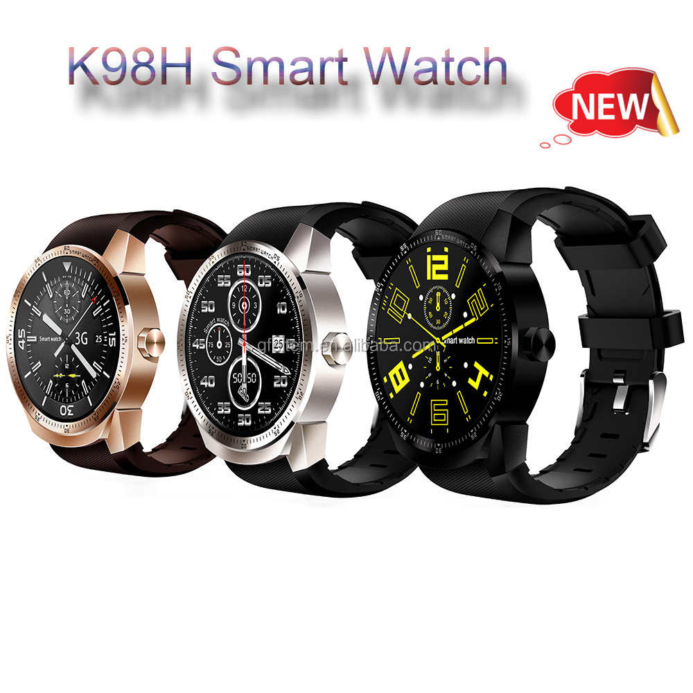 New Design 24H Heart rate Wifi 3G Smart Watch mobile phones with SIM card for Iphone8 by Gfeitem
