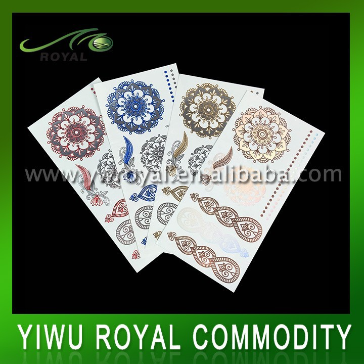 Flower Water Transfer Body Temporary Laser Tribal Tattoo Sticker
