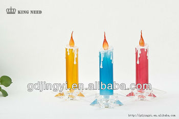 Acrylic wedding party led star base candle light christmas decoration gift