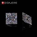 GIGAJEWE Clear White 6.5*6.5mm EF Color Princess Cut Moissanites Loose Stone For Lady Solitaire Ring Price For Jewelry Making