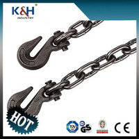 High Quality G43 chain hooks clevis / eye 1/4''*16FT
