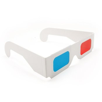 Customized Logo Paper 3D Glasses Red/Cyan Cardboard 3D Glasses - White Frame
