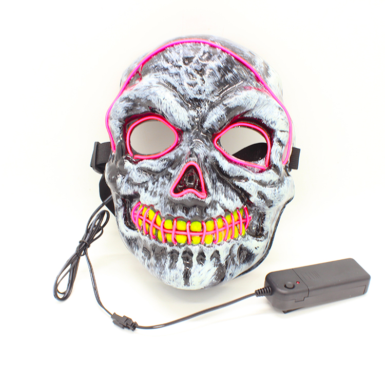Halloween Masquerade mask Party <strong>Led</strong> Light Up Neon El Wire Mask For Festival Parties Costume