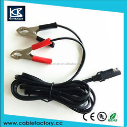 Fast delivery ul 2464 26/28AWG 2C charging cable truck cable sae connection to dc coax jack adapter