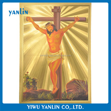Gold Foil Picture of Jesus Christ on the Cross