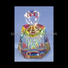 2017 Custom made red empty crystal perfume bottle