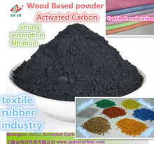 Activated carbon powder for fabric textile plant decoloration