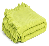 SZPLH Over 10 years experience knitted acrylic blanket manufacturer