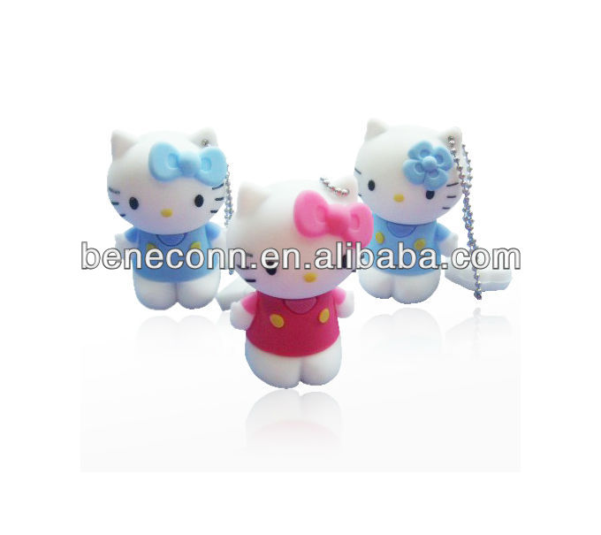 Vertical hello kitty usb pen drives 1gb/2gb/4gb