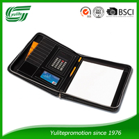 Document folder with calculator,padfolio;portfolio,briefcase