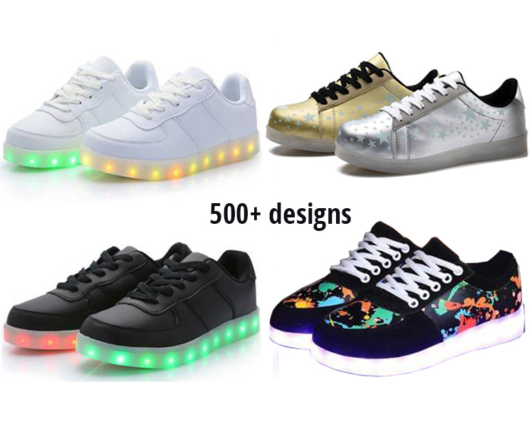 USB and Lithium Battery operated led shoes children