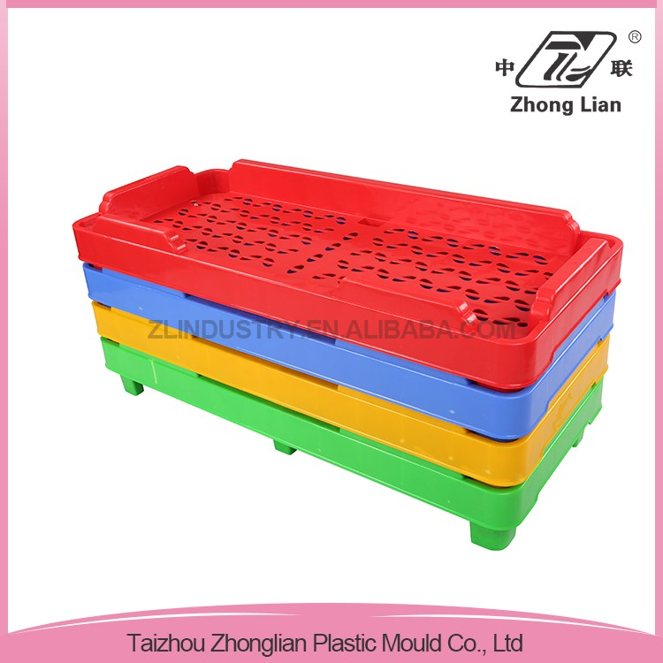 Children size stackable design nursery kids bed plastic daycare cheap cots for sale