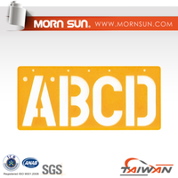 100mm Acrylic Letters Alphabet Stencil Ruler