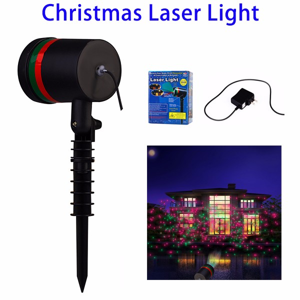Christmas Decor Green Red LED Star Spot Laser Light for Wholesale