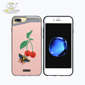 Qute embroidery cherry heavy duty defender shockproof high quality for iphone 7 plus cases