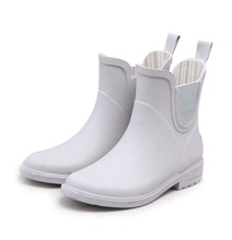 New Design Ankle Rubber Boots Women Low Wellies Chelsea Style Rain Boots