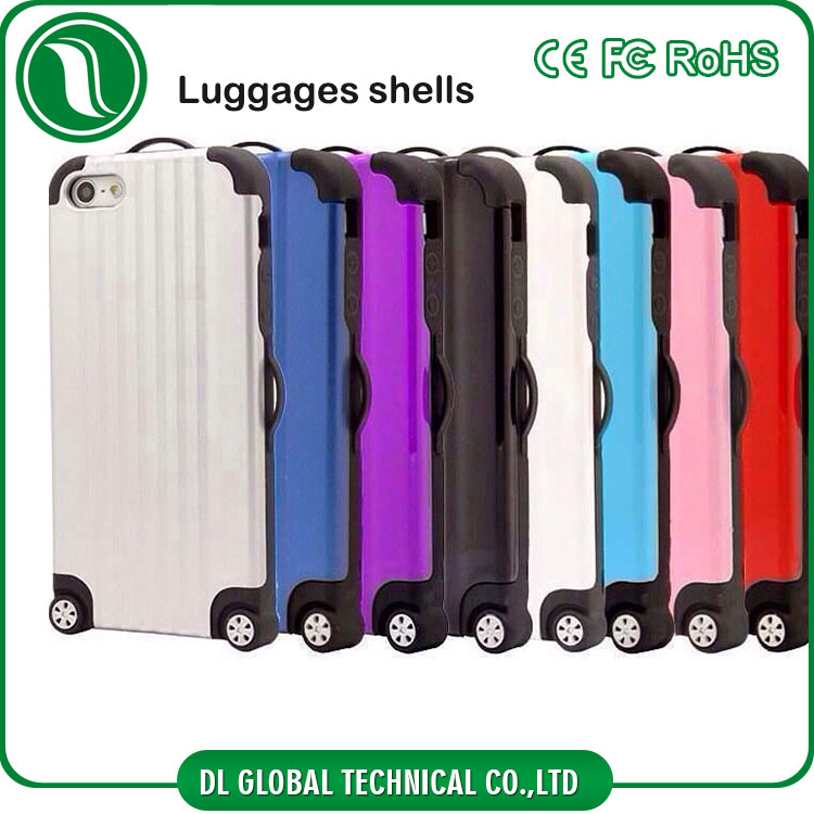 new products Travel suitcase Luggage case for iphone 6 plus TPU PC luggage phone case DLPC264