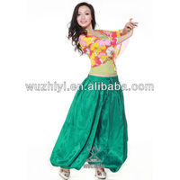 Cheap new hot belly dance performance pants,belly dance trousers,colorful plus size belly dance pants (KZ005)