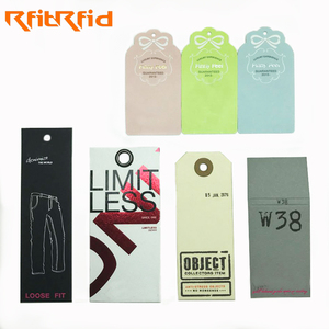 Hight quality wholesale Cheap Price Printable Clothing UHF RFID customized design cardboard paper Hang Tag for Garment Retail