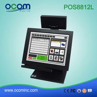 Small Size Customer Display and MSR Installed 12 Inch Touch POS Terminal